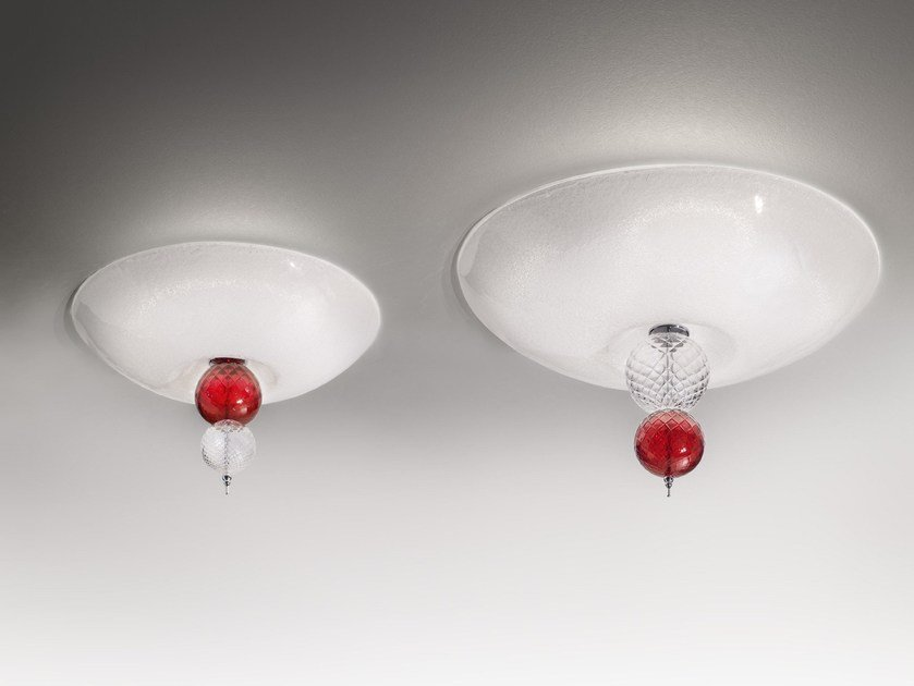 Blown glass ceiling light REGOLO | Ceiling light by Zafferano