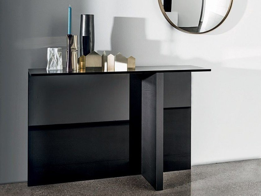 Rectangular wood and glass console table REGOLO | Console table by Sovet italia
