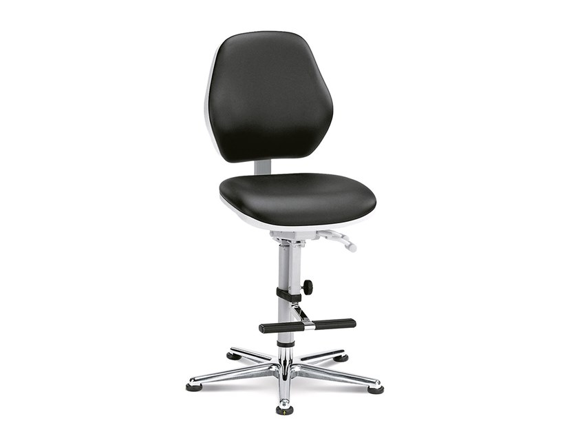 Swivel cleanroom chair with 5-Spoke base REINRAUM 9141 by bimos