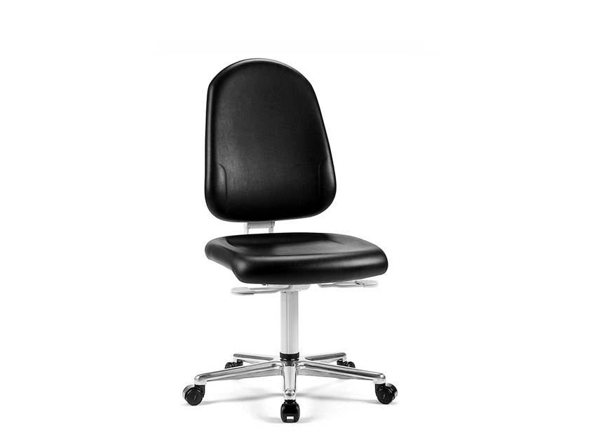 Cleanroom chair with 5-Spoke base with casters REINRAUM 9161 by bimos