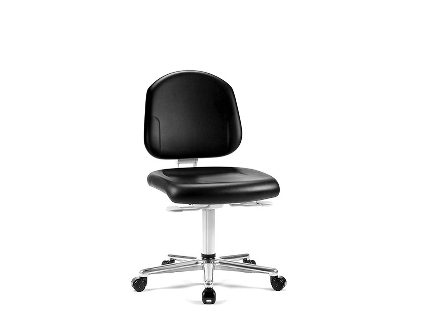 Cleanroom chair with 5-Spoke base with casters REINRAUM 9181 by bimos