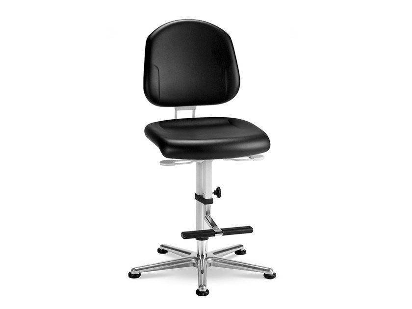 Cleanroom chair with 5-Spoke base with casters REINRAUM 9183 by bimos