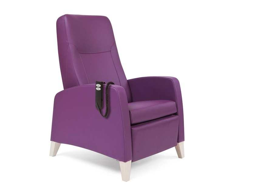 Recliner fabric armchair with motorised functions RELAX BED | HEALTH & CARE | Armchair with motorised functions by PIAVAL