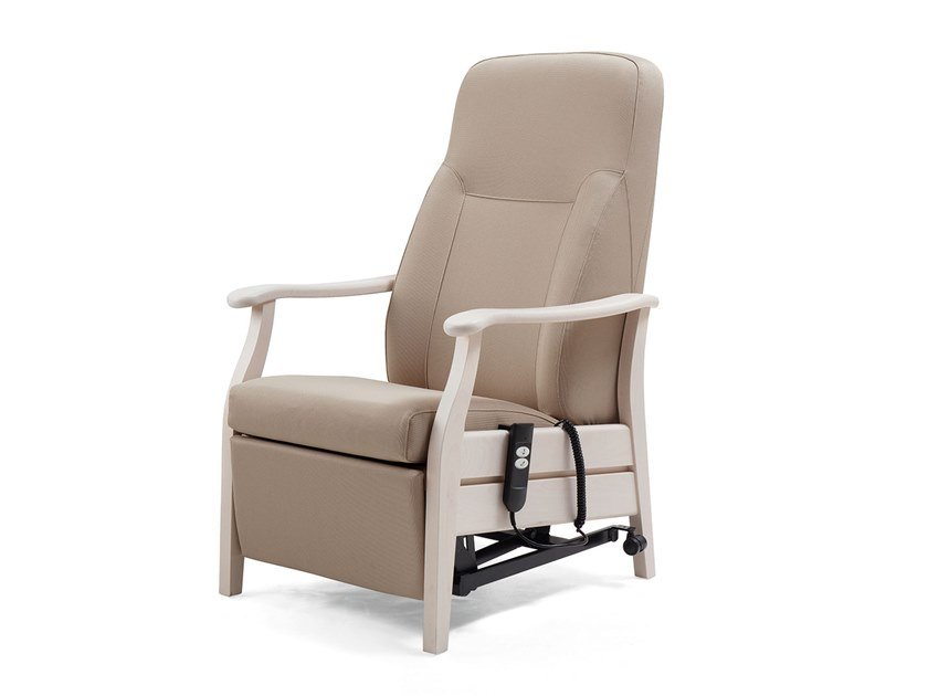 Ergonomic fabric armchair with motorised functions RELAX CLASSIC | HEALTH & CARE | Recliner armchair by PIAVAL