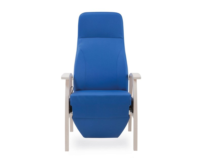Contemporary style fabric armchair with armrests with headrest with footstool RELAX COMPACT | HEALTH & CARE | Armchair with footstool by PIAVAL