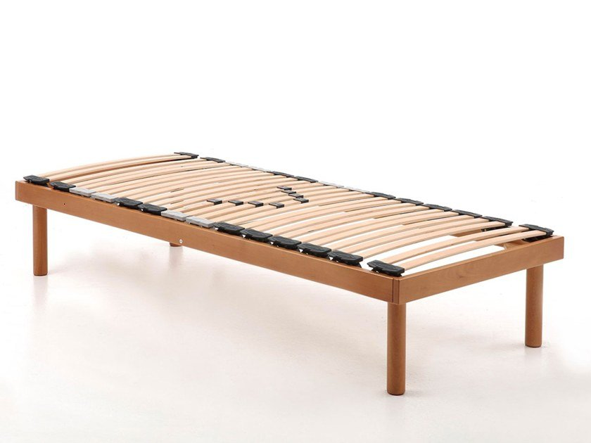 Slatted orthopedic single wooden bed base RELAX | Single bed base by Lamantin
