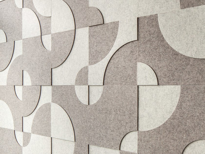 Wool felt Acoustic wall panel RELIEF by HEY-SIGN
