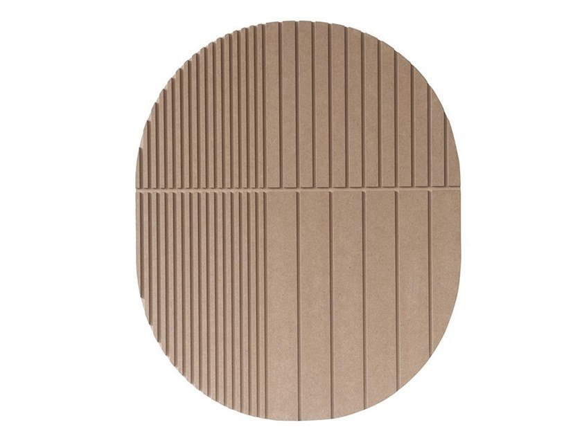Wooden Decorative panel RELIEF MASK by Kristina Dam Studio