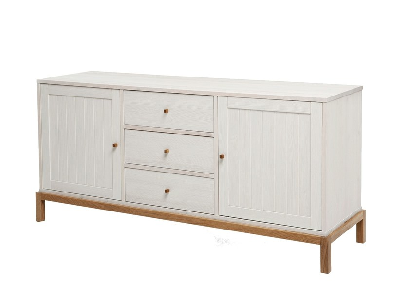 Lacquered wooden sideboard with drawers RELY | Sideboard by Woodman
