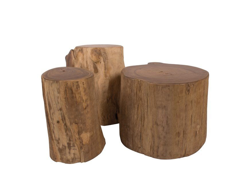 Solid wood side table REMIX | Solid wood coffee table by Il Giardino di Legno