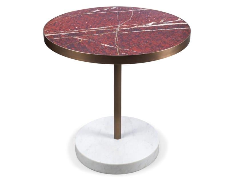 Mesa redonda de mármol RENÉ by Salvatori