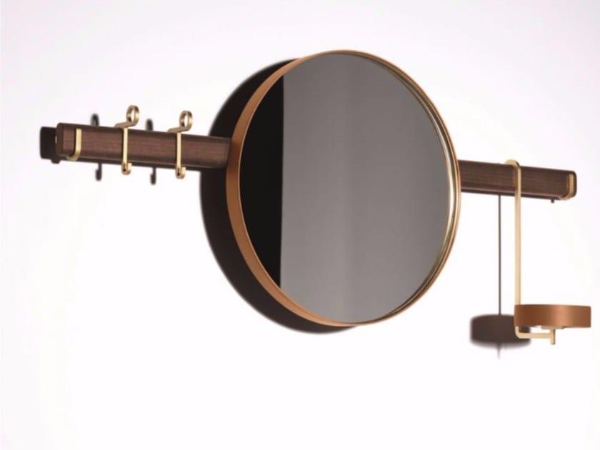 Round wall-mounted mirror REN | Wall-mounted mirror by Poltrona Frau