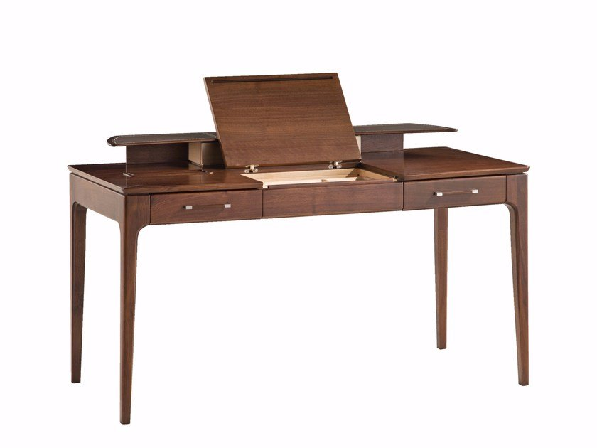Rectangular wooden writing desk with drawers REPERTOIRE | Writing desk by ROCHE BOBOIS