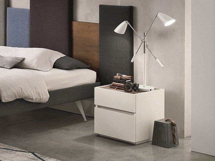 Lacquered wooden bedside table with drawers REPLAY | Bedside table by Gruppo Tomasella