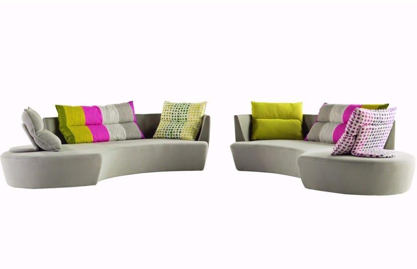 Fabric sofa REPORTAGE by ROCHE BOBOIS