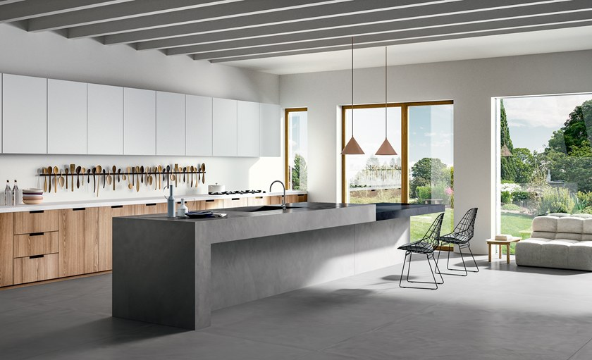 Top cucina in gres porcellanato effetto resina RES ART | Top ...