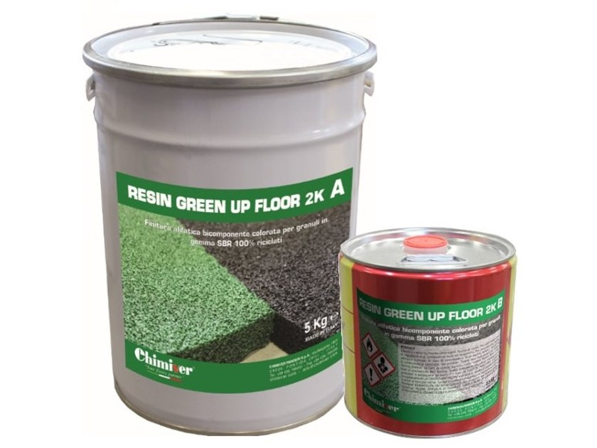 Flooring protection RESIN GREEN UP FLOOR 2K by Chimiver Panseri