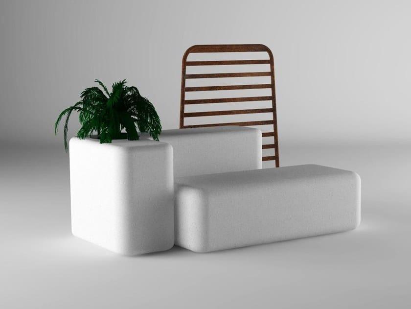 Modular Bench with Integrated Planter REST by Manufatti Viscio