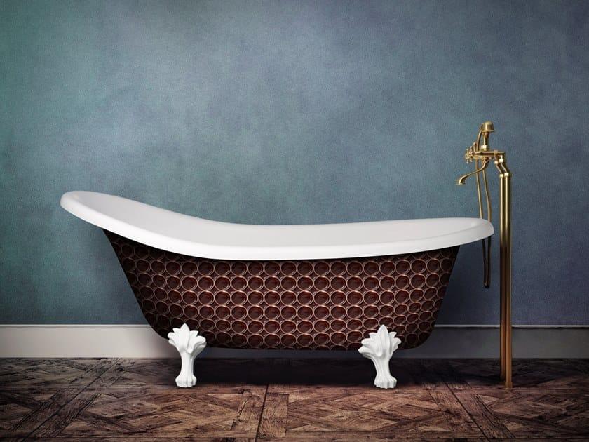 Freestanding oval bathtub on legs RETRO HERITAGE by Aquadesign Studio