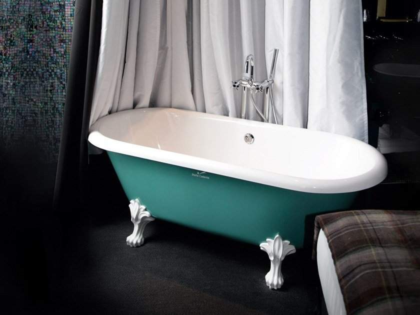 Freestanding oval bathtub on legs RETRO NEW AGE by Aquadesign Studio