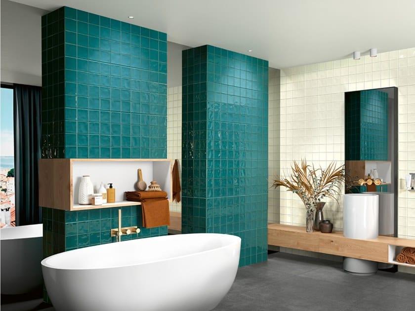 Fireproof indoor ceramic wall tiles RETRO by Revigrés