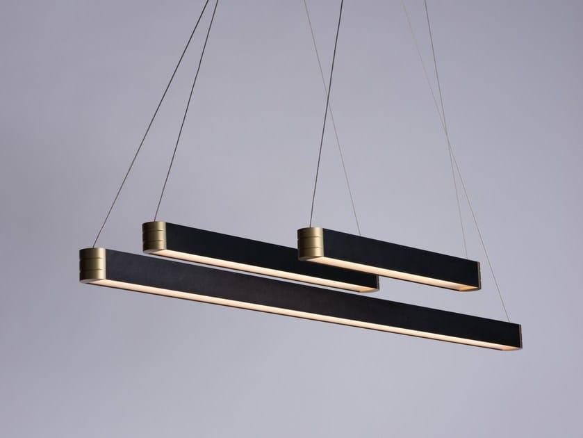 LED direct light aluminium pendant lamp RETTA by Karice