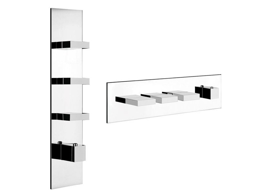 4 hole thermostatic shower mixer RETTANGOLO WELLNESS 43026 by Gessi