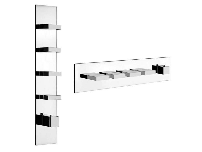 5 hole thermostatic shower mixer RETTANGOLO WELLNESS 43028 by Gessi