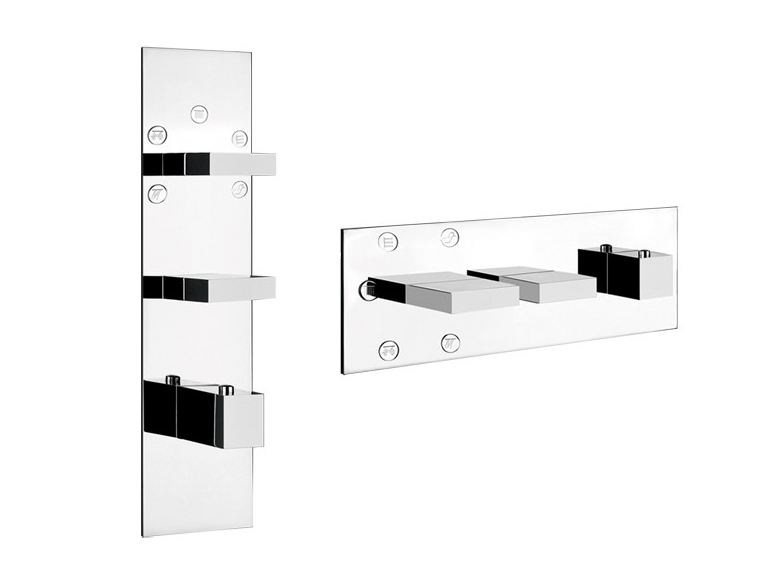 3 hole thermostatic shower mixer RETTANGOLO WELLNESS 43032 by Gessi