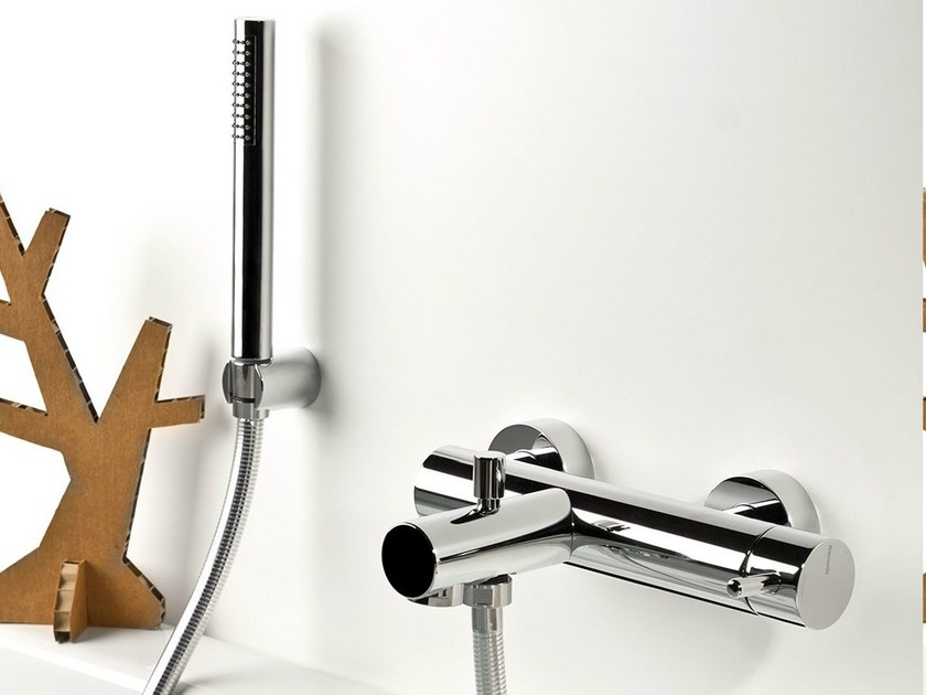 Wall-mounted bathtub mixer with hand shower REVERSO | Bathtub mixer by RITMONIO