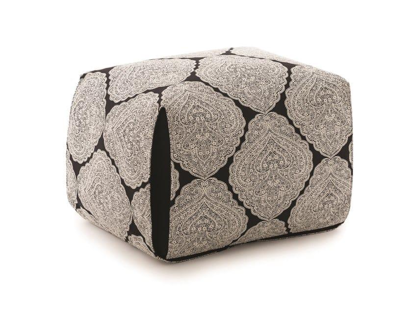 Upholstered rectangular fabric pouf REVERSO by ManifestoDesign