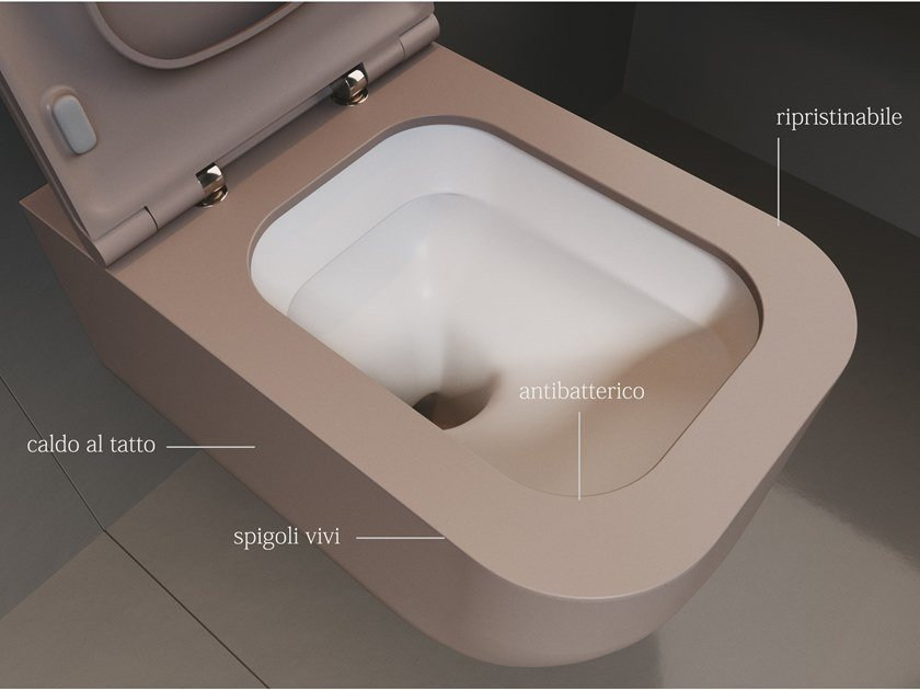 Wall-hung Solid Surface toilet REVOLUTION® | Toilet by SDR CERAMICHE