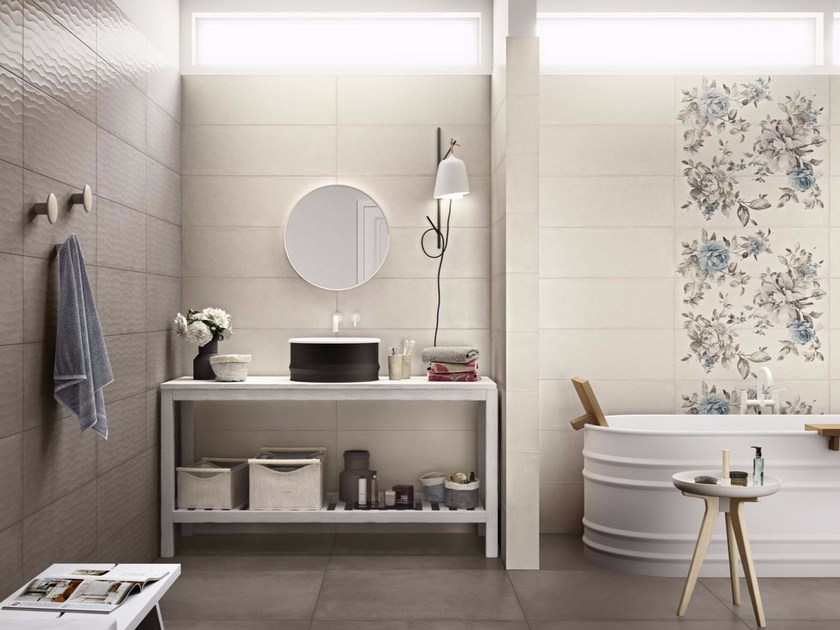 Indoor white-paste wall tiles REWIND 25X76 by Ragno