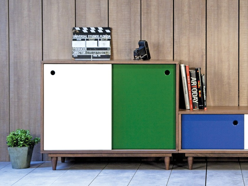 Lacquered storage unit with doors REYKA   Storage unit by Kann Design