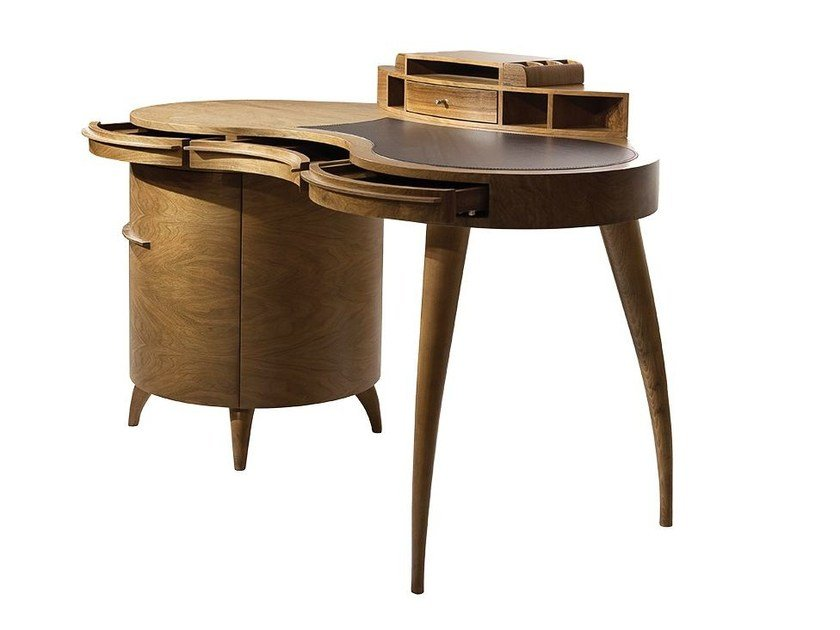 Wooden writing desk with drawers RHAPSODY by Mobi