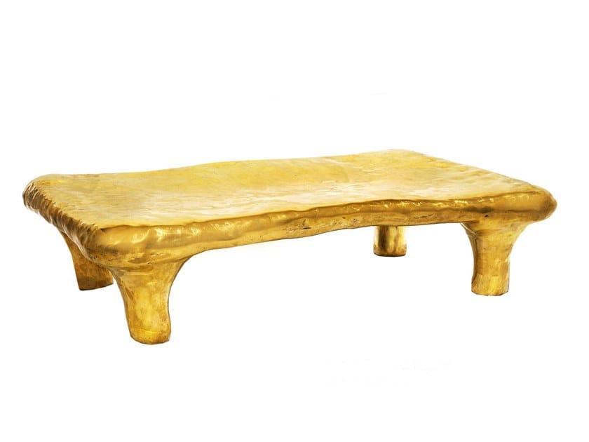Rectangular brass coffee table RHAPSODY by Scarlet Splendour