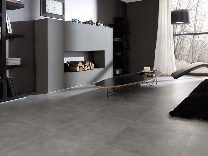 Indoor/outdoor porcelain stoneware flooring with stone effect RHIN | Porcelain stoneware flooring by Venis