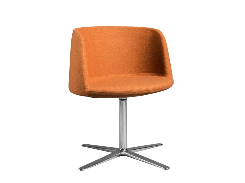 Fabric chair with 4-spoke base with armrests RHODE ISLAND | Chair with 4-spoke base by AP Factor