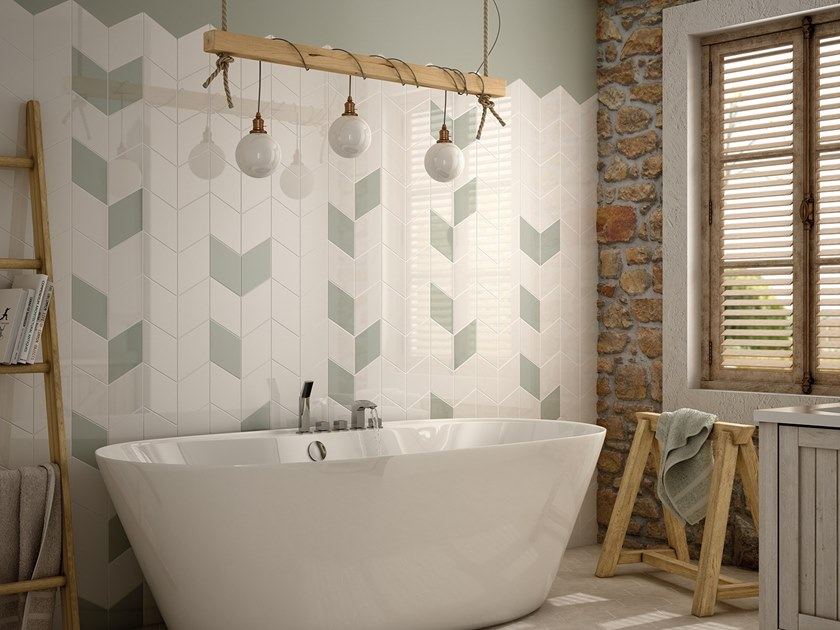 White-paste wall tiles RHOMBUS WALL by EQUIPE CERAMICAS
