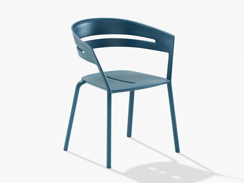 Sedia da giardino impilabile in alluminio con braccioli RIA | Sedia con braccioli by FAST