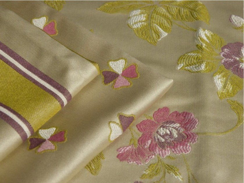 Washable fabric with floral pattern RIALTO by FRIGERIO