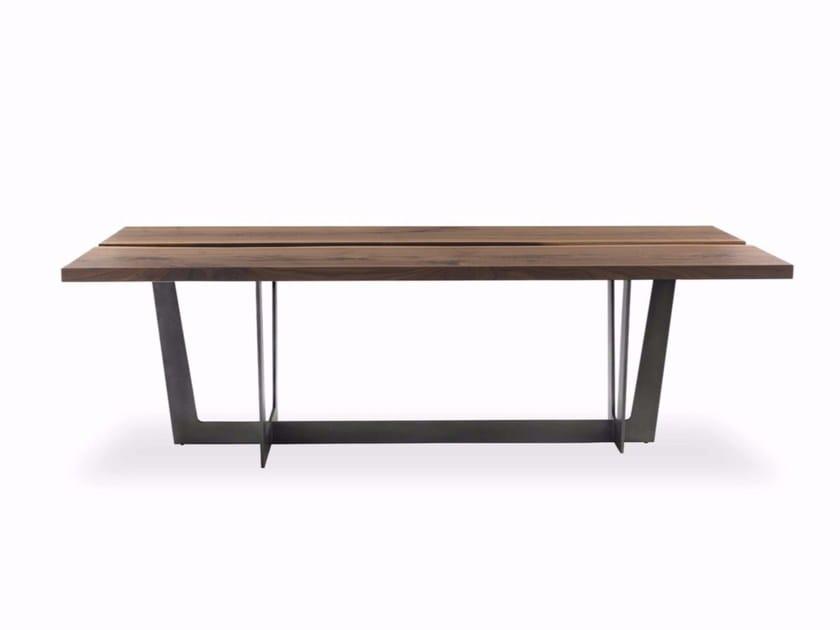 Tavolo da pranzo rettangolare in legno in stile moderno RIALTO TABLE ...
