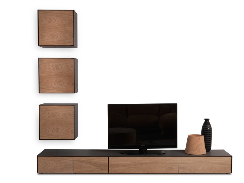 Sectional wooden storage wall RIALTO WALL UNIT 2013 by Riva 1920