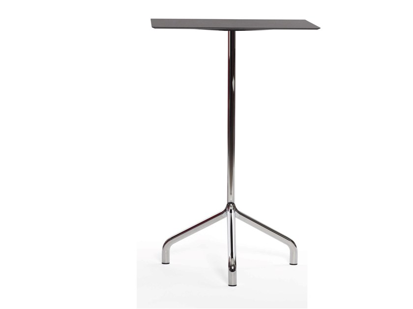 Square aluminium high table RIBALTINO   High table by Diemmebi