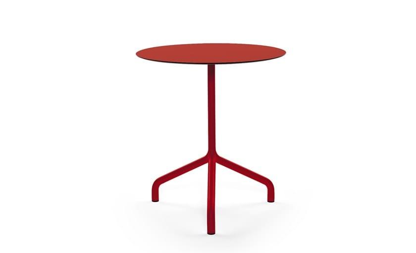 Round aluminium table RIBALTINO   Table by Urbantime