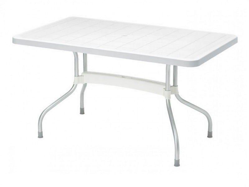 Drop-leaf rectangular polypropylene garden table RIBALTO | Rectangular table by SCAB DESIGN