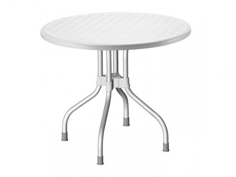 Drop-leaf round polypropylene table RIBALTO | Round table by SCAB DESIGN