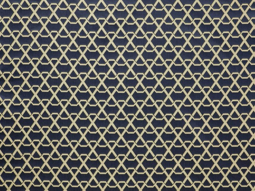 Jacquard upholstery fabric with graphic pattern RIBON by LELIEVRE