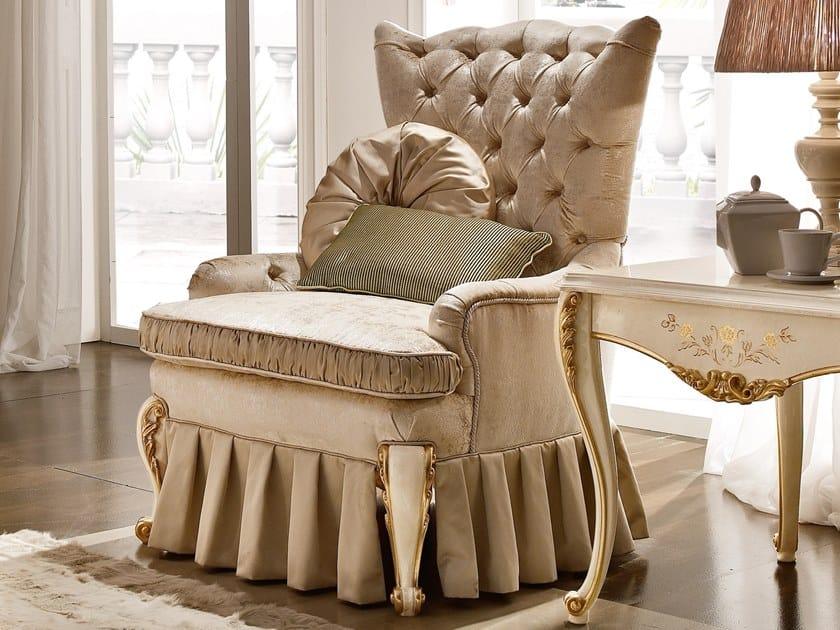 Tufted fabric armchair RICASOLI | Fabric armchair by A.R. Arredamenti