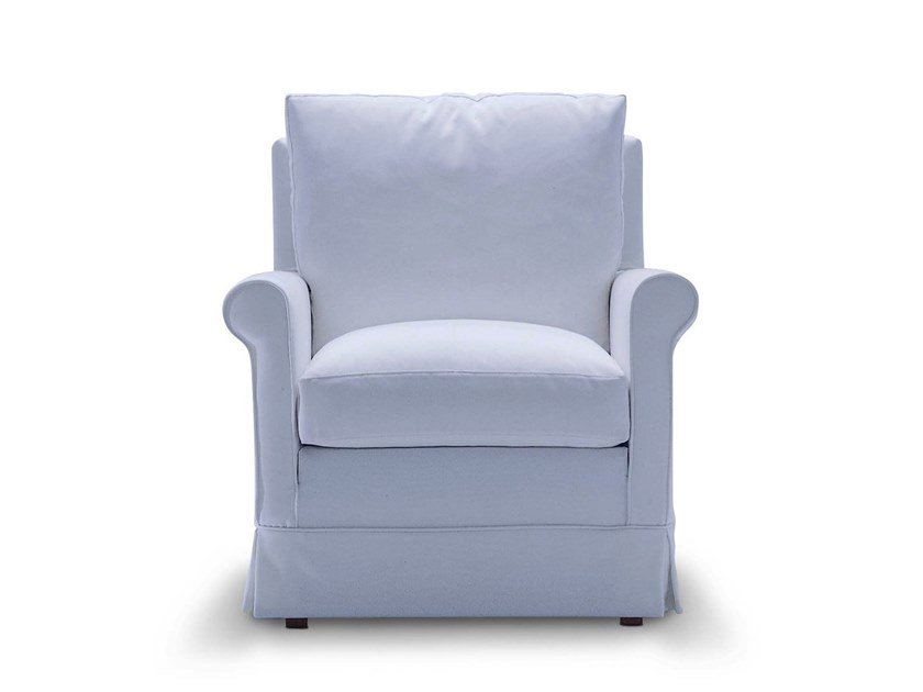 Fabric armchair with armrests RICCIOLINA by Flexstyle